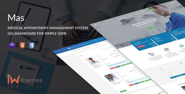 Medical Appointment Management System (UI),Dashboard for Simple User | Mas