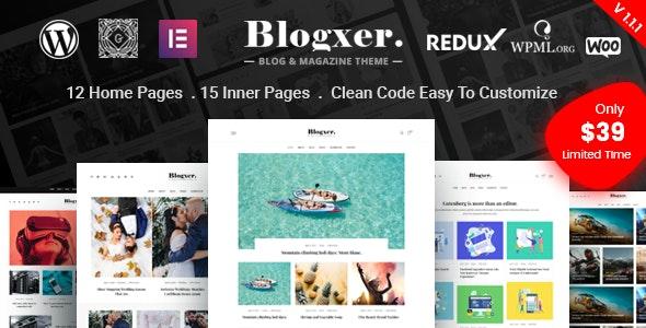 Bloxer - Blog & Magazine WordPress Theme - Personal Blog / Magazine