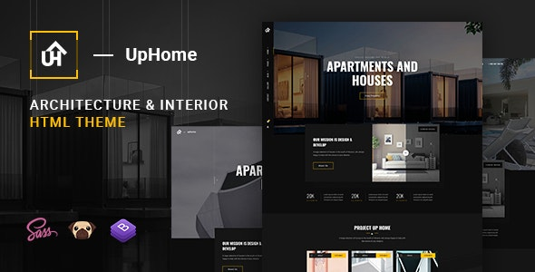 UpHome - Modern Architecture HTML Template - Retail Site Templates