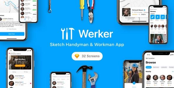 Werker - Sketch Handyman & Workman App - Sketch Templates