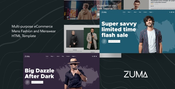 Zuma - eCommerce Men Fashion HTML Template - Fashion Retail
