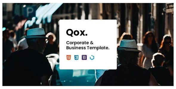 Qox — Corporate & Business Template - Corporate Site Templates