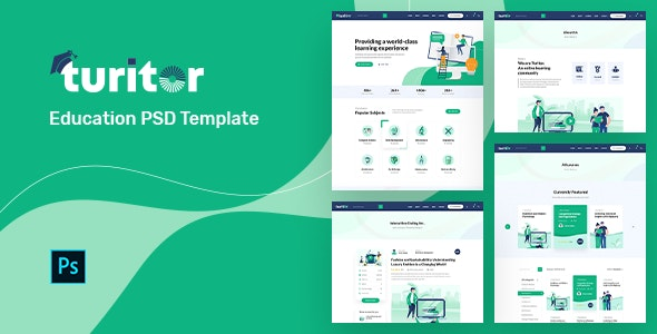 Turitor | Education PSD Template - Business Corporate