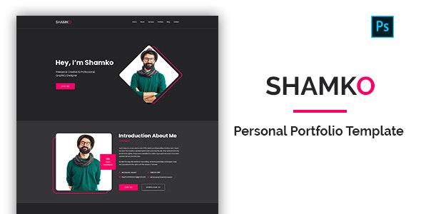 Shamko - Personal Portfolio PSD Template - Portfolio Creative
