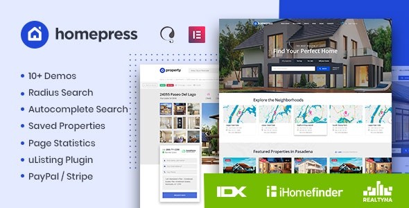 HomePress - Real Estate WordPress Theme - Real Estate WordPress