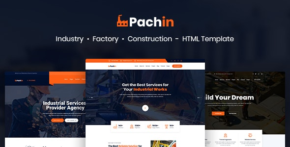 Pachin - Industry & Factory Business HTML Template - Business Corporate