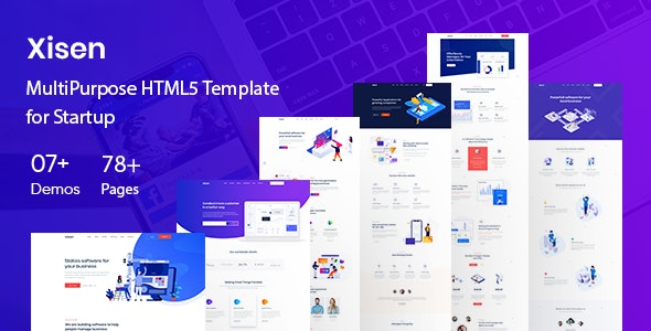 Xisen - Creative HTML5 Template for Saas, Startup & Agency - Software Technology