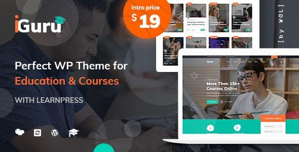 iGuru - Education & Courses WordPress Theme - Education WordPress