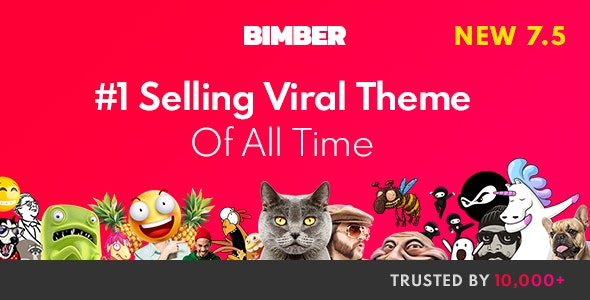 Bimber - Viral Magazine WordPress Theme - News / Editorial Blog / Magazine