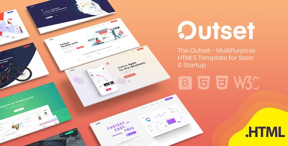 The Outset - MultiPurpose HTML5 Template for Saas & Startup - Technology Site Templates