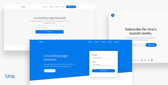 Ura Multipurpose Landing Page Template - Landing Pages Marketing