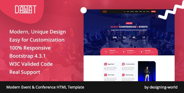 Dawat – Event & Conference HTML5 Template - Events Entertainment