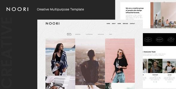 Noori — Creative Multipurpose Template - Creative Site Templates