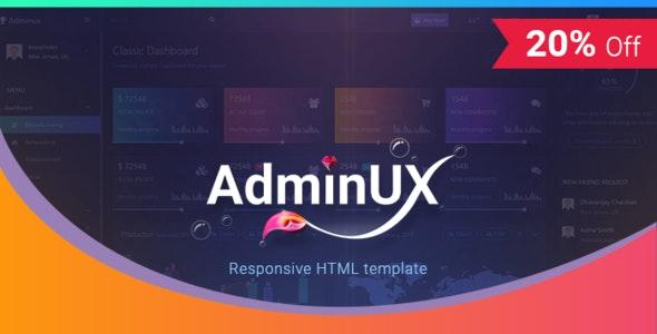 Admin UX    Bootstrap 4 Angular 4 Dashboard Responsive HTML template - Admin Templates Site Templates