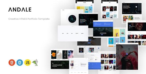Andale - Creative HTML5 Portfolio Template - Portfolio Creative