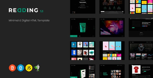 Redding - Minimal & Digital HTML Template - Portfolio Creative