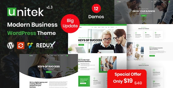 Unitek - Business WordPress Theme - Corporate WordPress