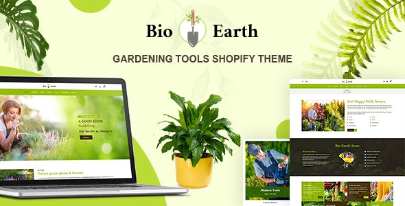 Bio Earth - Landscaping & Gardening Services Shopify Theme - Technology Shopify