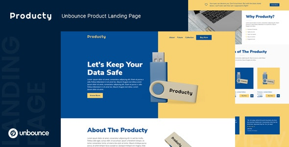 Producty — Unbounce Product Landing Page Template - Unbounce Landing Pages Marketing