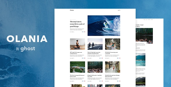 Olania — Minimal Blog and Magazine Ghost Theme - Ghost Themes Blogging