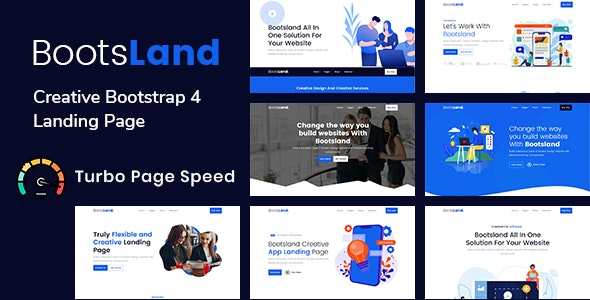 Bootsland - Creative Bootstrap 4 Landing Page - Technology Site Templates