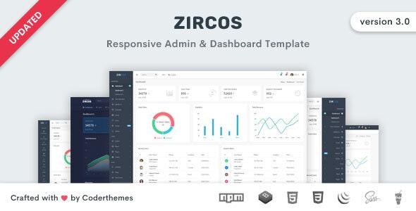 Zircos - Bootstrap 4 Admin & Dashboard Template - Admin Templates Site Templates