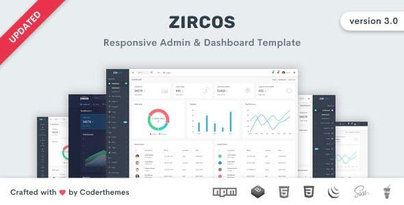 Zircos - Bootstrap 4 Admin & Dashboard Template by coderthemes