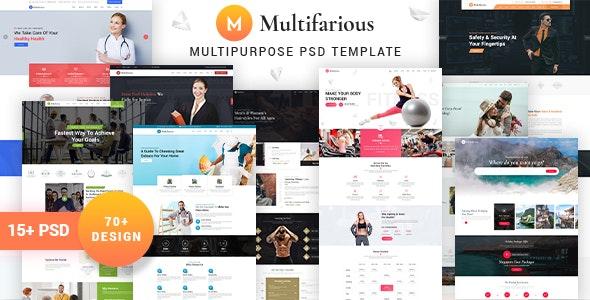 Multifarious - Service PSD Templates - PSD Templates