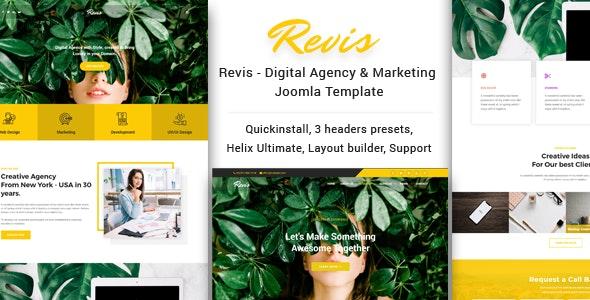 Revis - Digital Agency & Marketing Joomla Template - Business Corporate