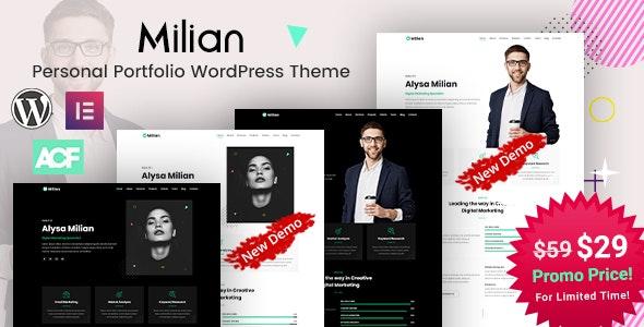 Milian - Personal Portfolio WordPress Theme - Portfolio Creative