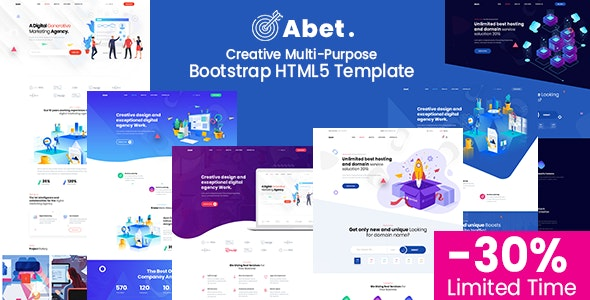Abet - MultiPurpose Bootstrap HTML5 Template - Corporate Site Templates