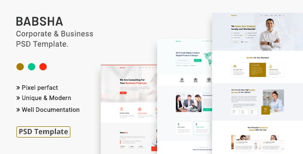 Babsha - Corporate & Business PSD Template - Corporate PSD Templates