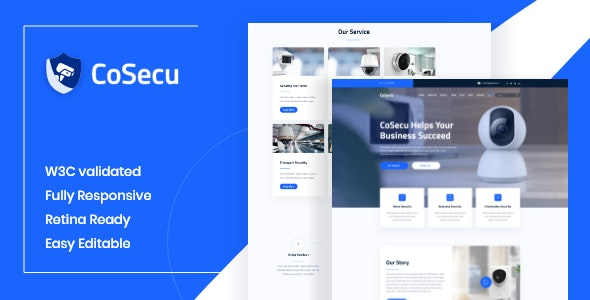Cosecu - Home Automation, CCTV, Security HTML Template - Business Corporate