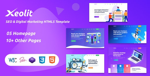 Xeolit | SEO & Digital Marketing HTML5 Template - Business Corporate