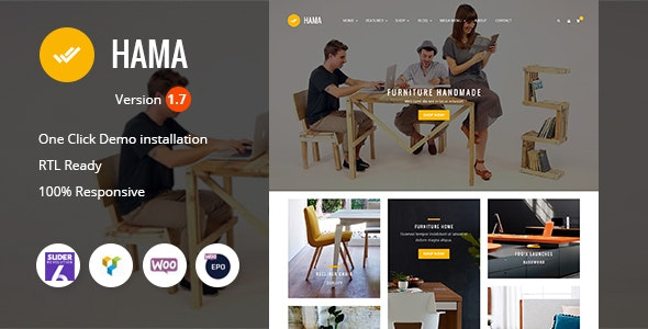 Hama - Store Furniture Home WooCommerce WordPress Theme - WooCommerce eCommerce