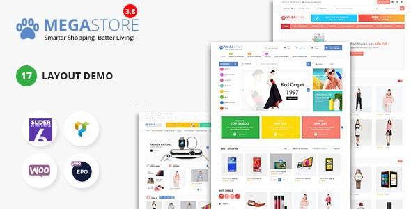Mega Marketplace Store RTL Responsive WooCommerce WordPress Theme - WooCommerce eCommerce