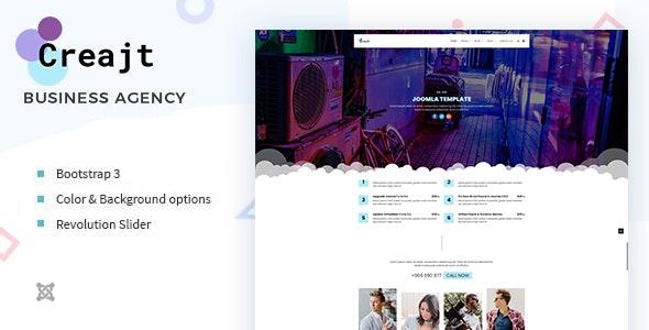 Creajt - Business Agency Joomla Template - VirtueMart Joomla