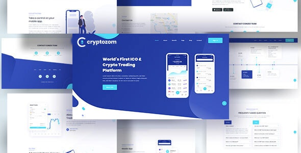 Cryptozom - Bitcoin Crypto Currency HTML 5 Template - Business Corporate