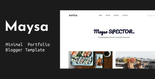 Maysa - Minimal Portfolio Blogger Template - Blogger Blogging