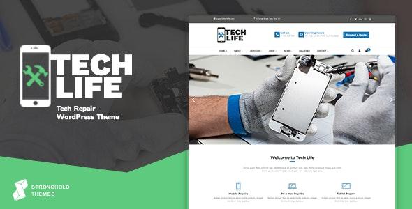 TechLife - Mobile, Tech & Electronics Repair Shop WordPress Theme - Business Corporate