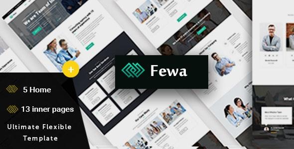 Fewa -  Multi-Purpose Corporate Template - Corporate Site Templates