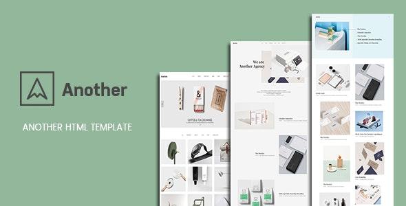 Another - Creative Minimal Portfolio HTML Template - Portfolio Creative