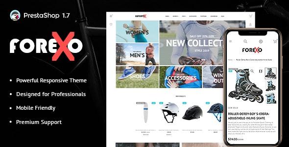 Forexo - Sports Apparel and Equipment PrestaShop Theme - Fashion PrestaShop