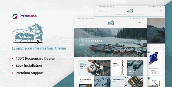 Fishza - Fishing Store Template - Entertainment PrestaShop