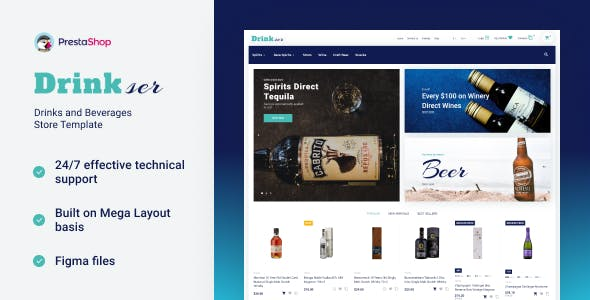 Drinkser - Alcohol Store PrestaShop Theme