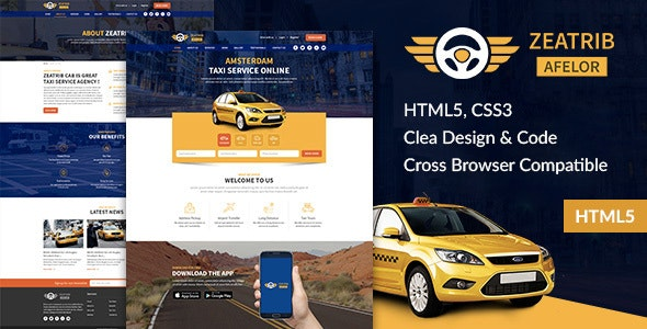 Zeatrib Afelor - Responsive HTML5 Template - Corporate Site Templates