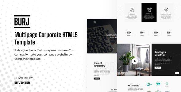 BURJ - Corporate HTML Template for Any Business - Business Corporate
