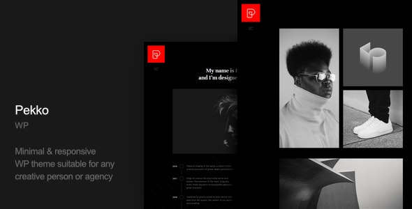 Pekko - Minimal Dark WordPress Theme - Portfolio Creative