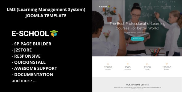 E School - Professional Learning and Courses Joomla Template - Business Corporate