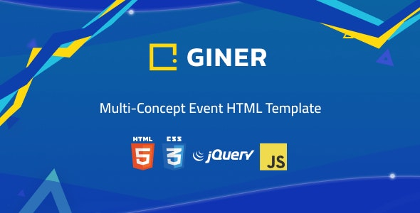 Giner | Multi-Concept Event HTML Template - Events Entertainment